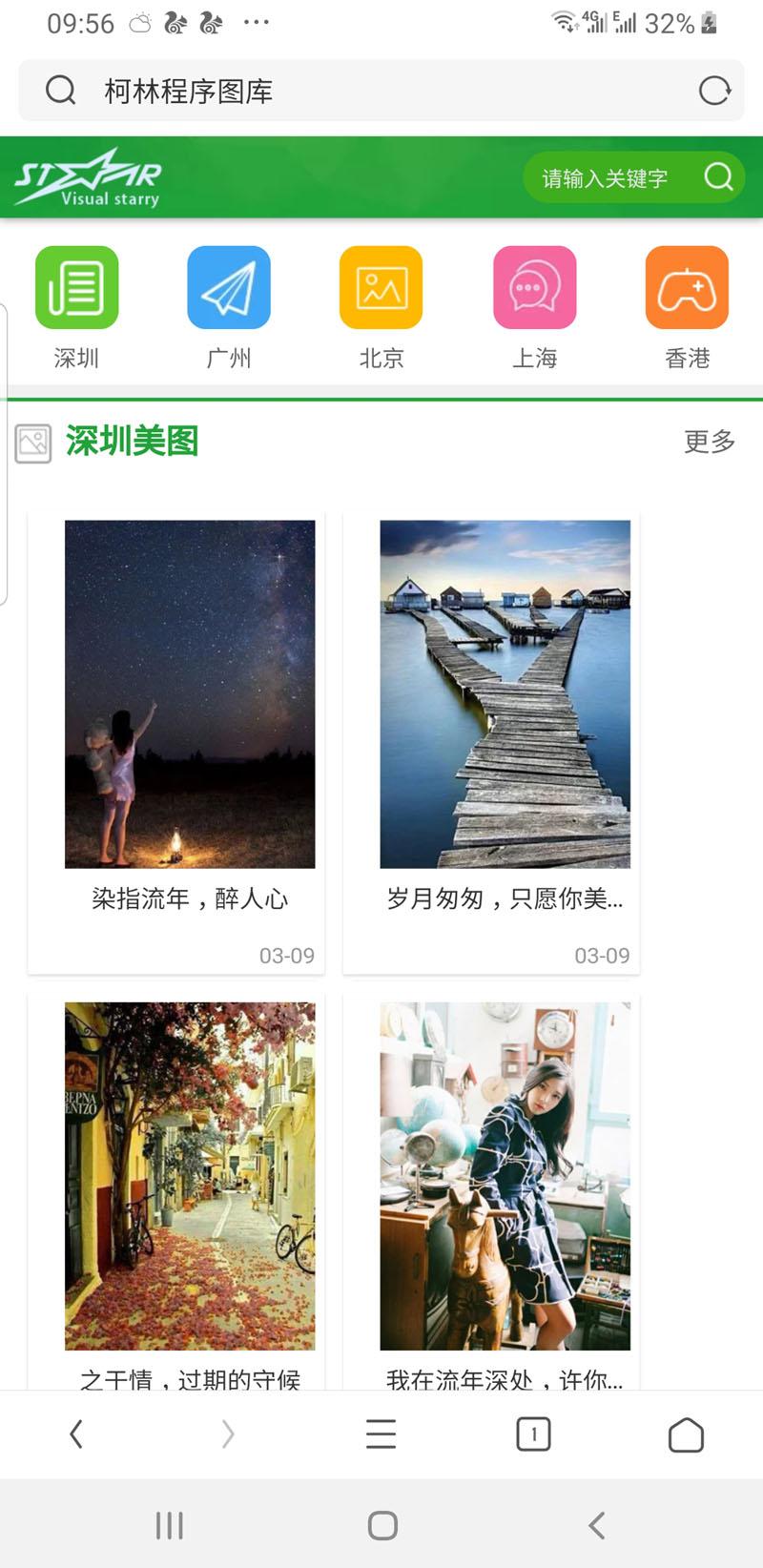 纯图片网站效果展示模板